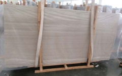 China Marble White Wooden Marble Big Slab For Project