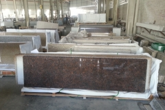 Tan Brown Kitchen Countertops Flat Edge