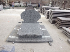Swan Blue Granite Tombstone Monuments to Poland Market
