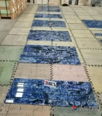 Blue Marble Tiles Amazing Marble Light Transmission