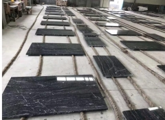 2019 New Project Vila Black Granite Countertops Round Edge Polishing