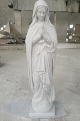 White Jade Marble Sculpture Virgin Mary
