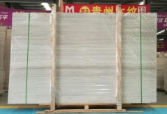 White Wooden Marble Big Slabs