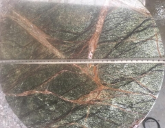 Green And Yellow Granite Table Tops Flat Edge Polished