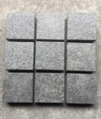 Original Black Pearl Basalt G684 cube stone Flamed