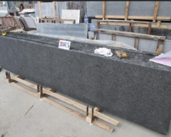 Angola Black Granite Small Slabs Flamed And Brush