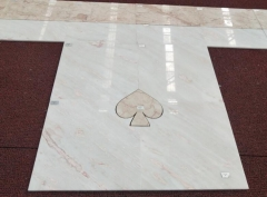 Pink Color Rose Color Marble Tiles Polished For Shopping Mall Project