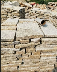 Rusty Yellow Granite G682 Splite Finish Way Loose Stone Wall Cladding