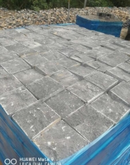 Zhangpu Black Basalt Cube Stone Natural and Saw Cutting Finish Way