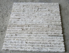 Yellowish White quartz waterfall Panel