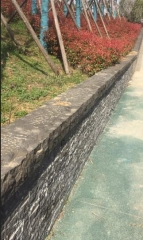 Black Basalt Paving Stone Natural Surface Way For Wall Cladding
