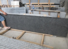 Angola Black Granite Small Slabs Flamed and Waterjet 1200
