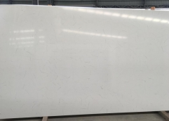 Middle White Arabescato White Quartz Big Slabs