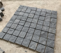 Padang Dark G654 Cube Stone Natural Split Finish Way