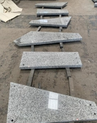 G603 White Granite Irregular Steps Stairs Cutting