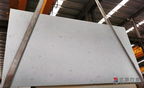 Carrara White Color Terrazzo Artifical Stone Big Slabs For Project