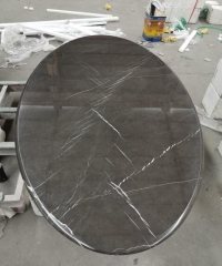 Bulgaria Grey Marble Table Top Round Table Desk