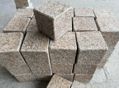 G682 Granite Cube Stone All Sides Flamed Finish Way