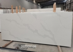 Stunning White Color Quartz Big Slabs Factory Wholesale