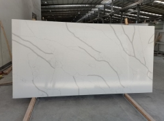 Hot Sell Quartz Big Slabs White Color Home Decor Countertops